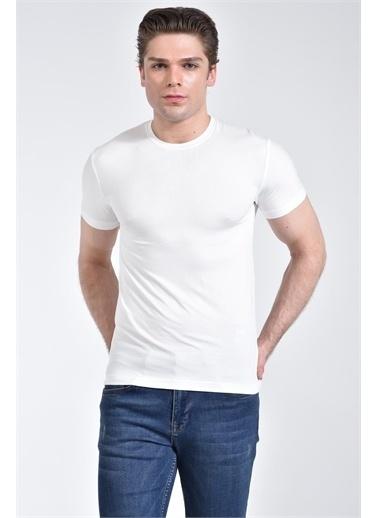Rodi Jeans Erkek Bisiklet Yaka Basic T-shirt RD21YE278610 Ekru